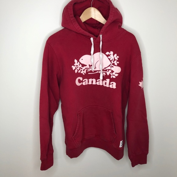 Roots Canada Beaver Logo Hoodie
